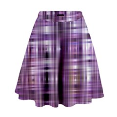 Purple Wave Abstract Background Shades Of Purple Tightly Woven High Waist Skirt