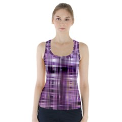 Purple Wave Abstract Background Shades Of Purple Tightly Woven Racer Back Sports Top