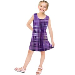 Purple Wave Abstract Background Shades Of Purple Tightly Woven Kids  Tunic Dress