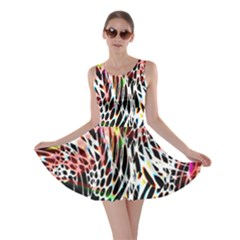 Abstract Composition Digital Processing Skater Dress
