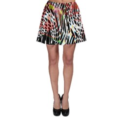 Abstract Composition Digital Processing Skater Skirt