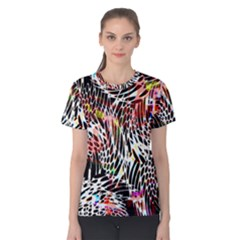 Abstract Composition Digital Processing Women s Cotton Tee