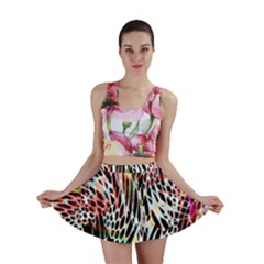 Abstract Composition Digital Processing Mini Skirt