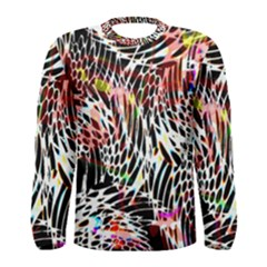 Abstract Composition Digital Processing Men s Long Sleeve Tee