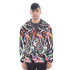 Abstract Composition Digital Processing Hooded Wind Breaker (men)
