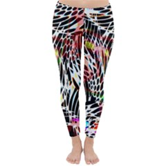 Abstract Composition Digital Processing Classic Winter Leggings