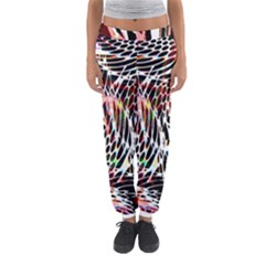 Abstract Composition Digital Processing Women s Jogger Sweatpants