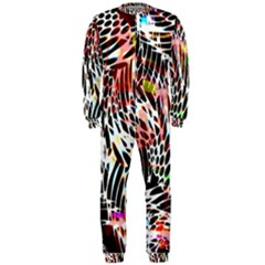 Abstract Composition Digital Processing OnePiece Jumpsuit (Men)