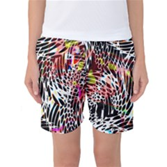Abstract Composition Digital Processing Women s Basketball Shorts