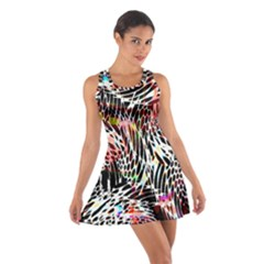Abstract Composition Digital Processing Cotton Racerback Dress