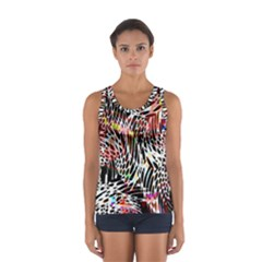 Abstract Composition Digital Processing Women s Sport Tank Top