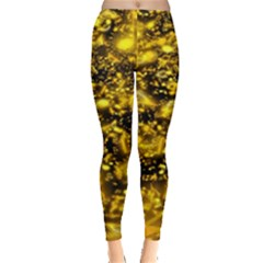 Vortex Glow Abstract Background Leggings