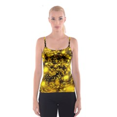 Vortex Glow Abstract Background Spaghetti Strap Top