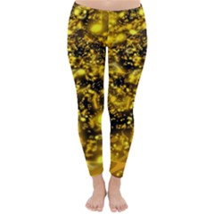 Vortex Glow Abstract Background Classic Winter Leggings
