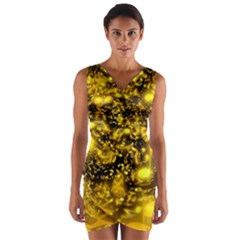 Vortex Glow Abstract Background Wrap Front Bodycon Dress