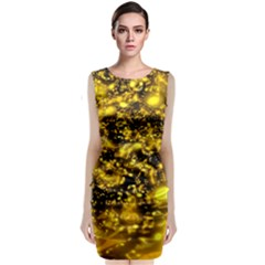 Vortex Glow Abstract Background Classic Sleeveless Midi Dress