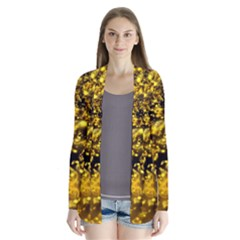 Vortex Glow Abstract Background Cardigans