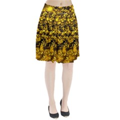 Vortex Glow Abstract Background Pleated Skirt