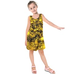 Vortex Glow Abstract Background Kids  Sleeveless Dress