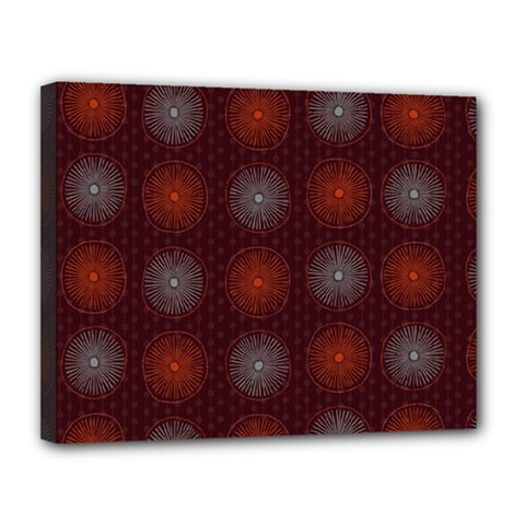 Abstract Dotted Pattern Elegant Background Canvas 14  X 11