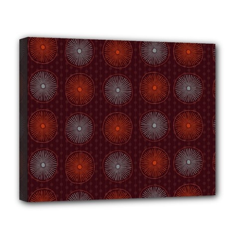 Abstract Dotted Pattern Elegant Background Deluxe Canvas 20  X 16