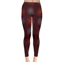 Abstract Dotted Pattern Elegant Background Leggings