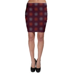 Abstract Dotted Pattern Elegant Background Bodycon Skirt