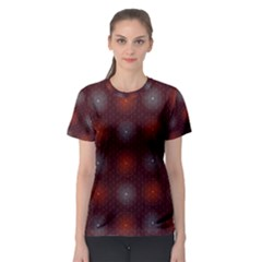 Abstract Dotted Pattern Elegant Background Women s Sport Mesh Tee