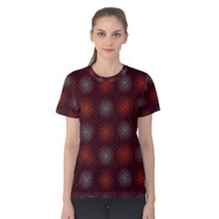 Abstract Dotted Pattern Elegant Background Women s Cotton Tee