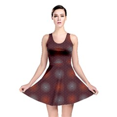 Abstract Dotted Pattern Elegant Background Reversible Skater Dress