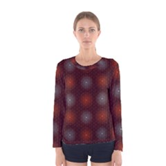 Abstract Dotted Pattern Elegant Background Women s Long Sleeve Tee
