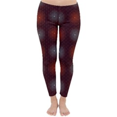Abstract Dotted Pattern Elegant Background Classic Winter Leggings