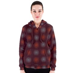 Abstract Dotted Pattern Elegant Background Women s Zipper Hoodie
