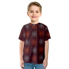 Abstract Dotted Pattern Elegant Background Kids  Sport Mesh Tee