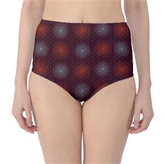 Abstract Dotted Pattern Elegant Background High-Waist Bikini Bottoms