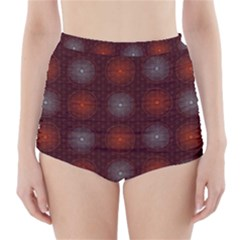 Abstract Dotted Pattern Elegant Background High Waisted Bikini Bottoms