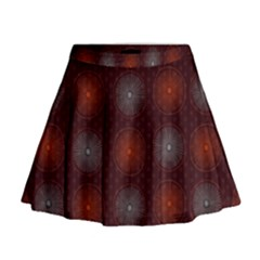 Abstract Dotted Pattern Elegant Background Mini Flare Skirt