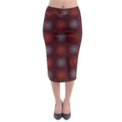 Abstract Dotted Pattern Elegant Background Midi Pencil Skirt