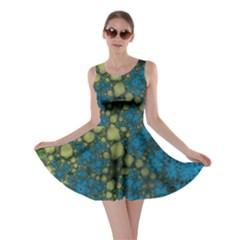 Holly Frame With Stone Fractal Background Skater Dress