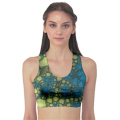 Holly Frame With Stone Fractal Background Sports Bra