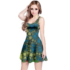 Holly Frame With Stone Fractal Background Reversible Sleeveless Dress