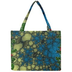 Holly Frame With Stone Fractal Background Mini Tote Bag