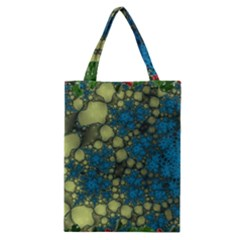 Holly Frame With Stone Fractal Background Classic Tote Bag