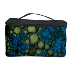 Holly Frame With Stone Fractal Background Cosmetic Storage Case