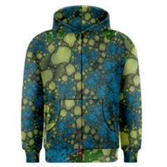 Holly Frame With Stone Fractal Background Men s Zipper Hoodie