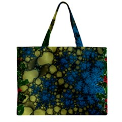 Holly Frame With Stone Fractal Background Zipper Mini Tote Bag