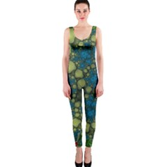 Holly Frame With Stone Fractal Background OnePiece Catsuit