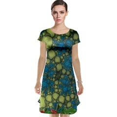 Holly Frame With Stone Fractal Background Cap Sleeve Nightdress
