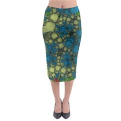 Holly Frame With Stone Fractal Background Midi Pencil Skirt
