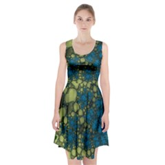 Holly Frame With Stone Fractal Background Racerback Midi Dress